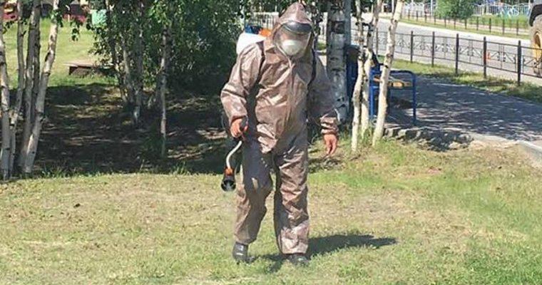 комары мошка ЯНАО обработка экология парки скверы