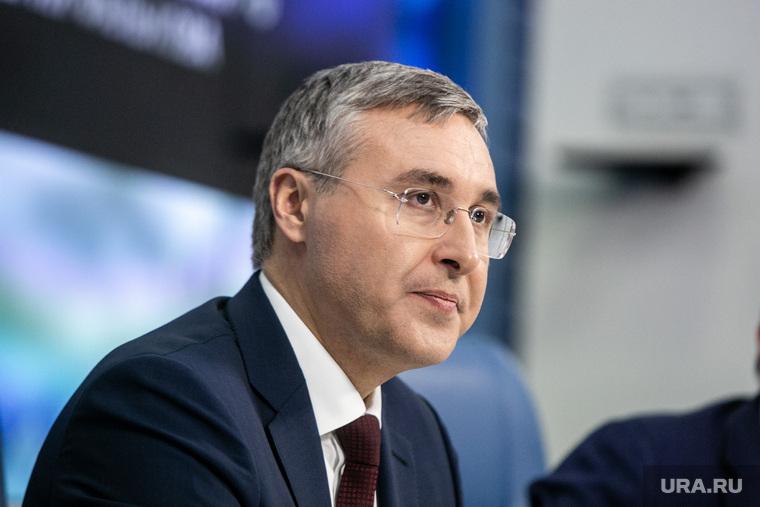 Пресс-конференции в ТАСС министра образования Российской Федерации Валерия Фалькова. Москва