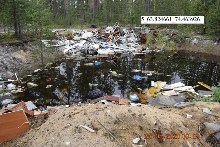 В окрестностях города в ЯНАО обнаружены десятки свалок. ФОТО
