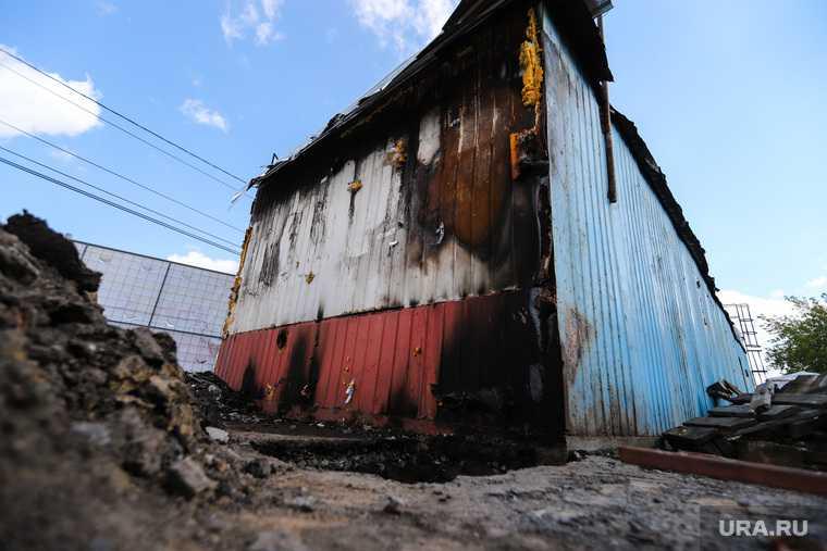 Поджог торгового павильона на Некрасовском рынке. Курган
