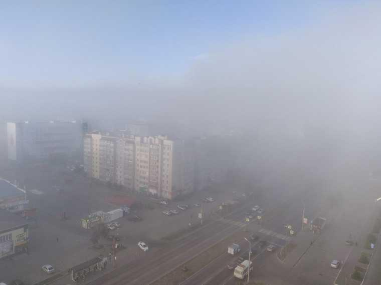 Курганскую область утром заволокло туманом. ФОТО, ВИДЕО