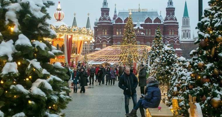 Новый год популярные города Россия