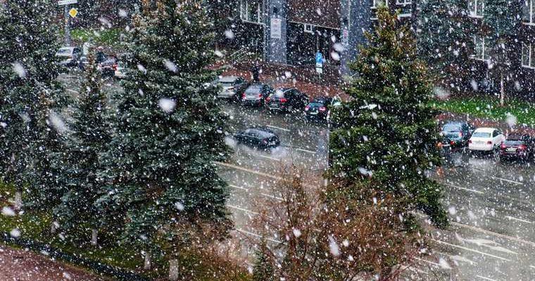 Челябинск снегопад фото видео