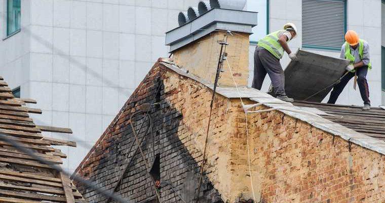 рабочий сорвался с крыши Прикамский картон