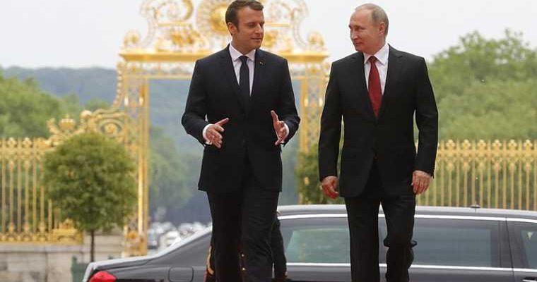 переговоры путина и макрона утечка