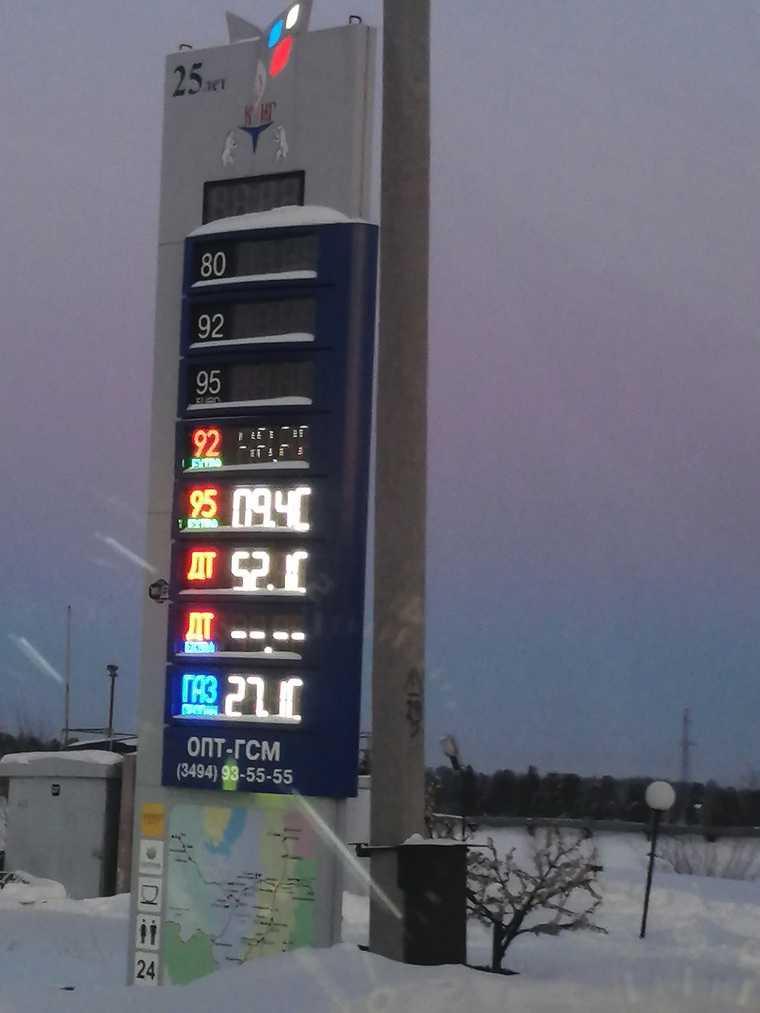 В ЯНАО подорожал газ на автозаправках