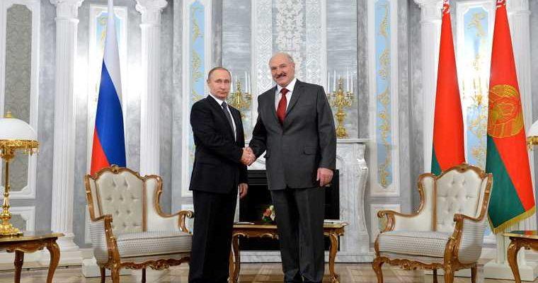 встреча Путина Лукашенко