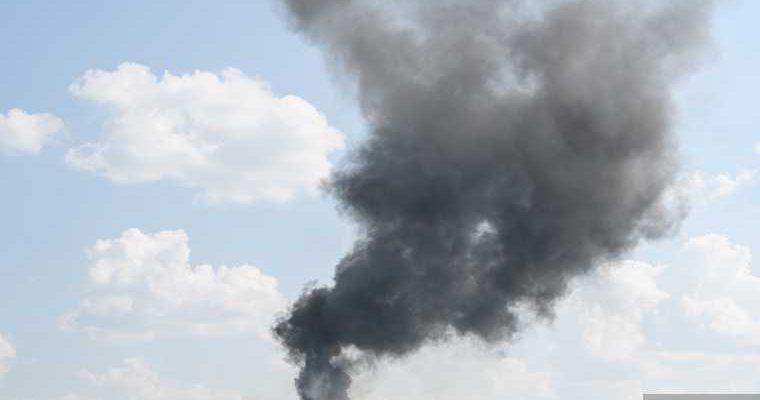 в Челябинской области начался пожар